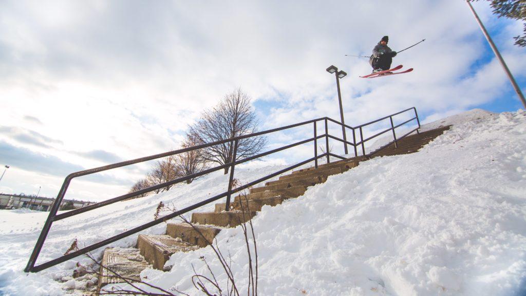 Transformation du ski en sport urbain